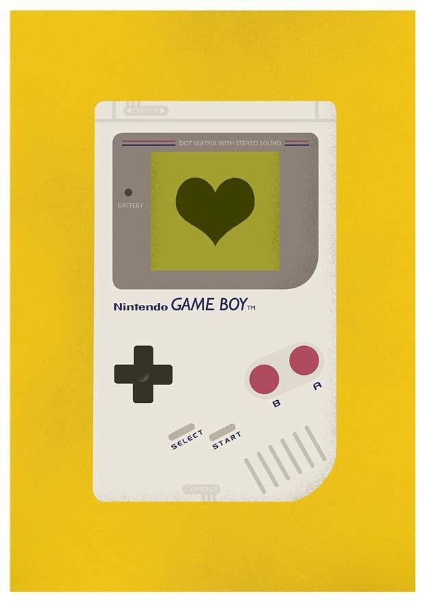 Gameboy poster - geekery retro gaming wall art - product images  of