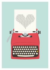 Vintage,Typewriter,Poster,Love,Print,Typography,art,A3,Art,typewriter,poster,love_print,retro_poster,retro_print,quote,wall_art,mid_century_modern,type,love,eames_era,vintage_typewriter,Black_friday,paper