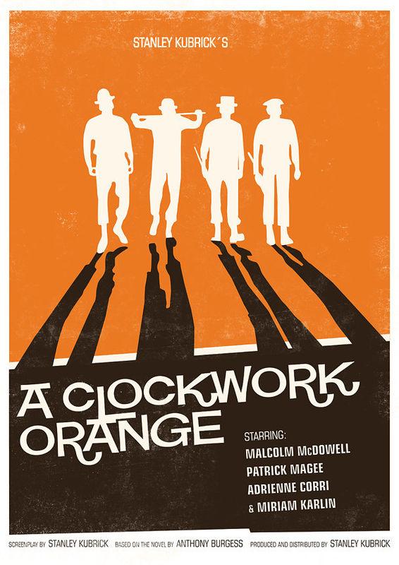 Movie Poster retro print - Stanley Kubrick - A Clockwork Orange ...