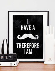 Mustache,quote,print,typography,poster,A3,Art,Print,typography_print,mustache_art,mustache_print,black_and_white,funny,motivational_art,quote_print,inspirational_quote,geek,wall_art,paper