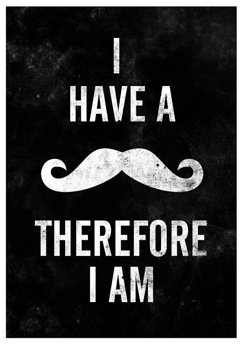 Mustache quote print  typography poster A3 - product images  of