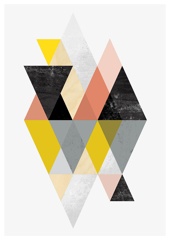 Abstract print, minimalist geometric poster - product images  of