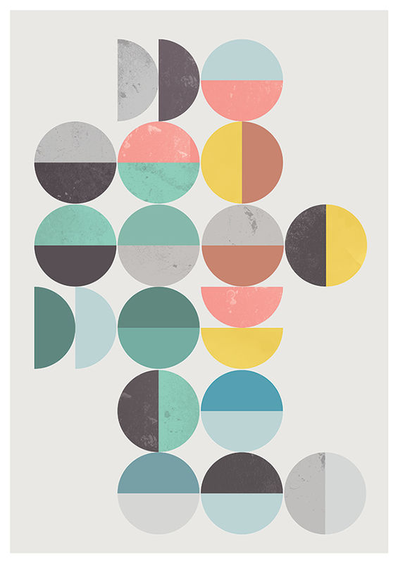 Abstract pritn, Colorful geometric art, Scandinavian art print - product images  of