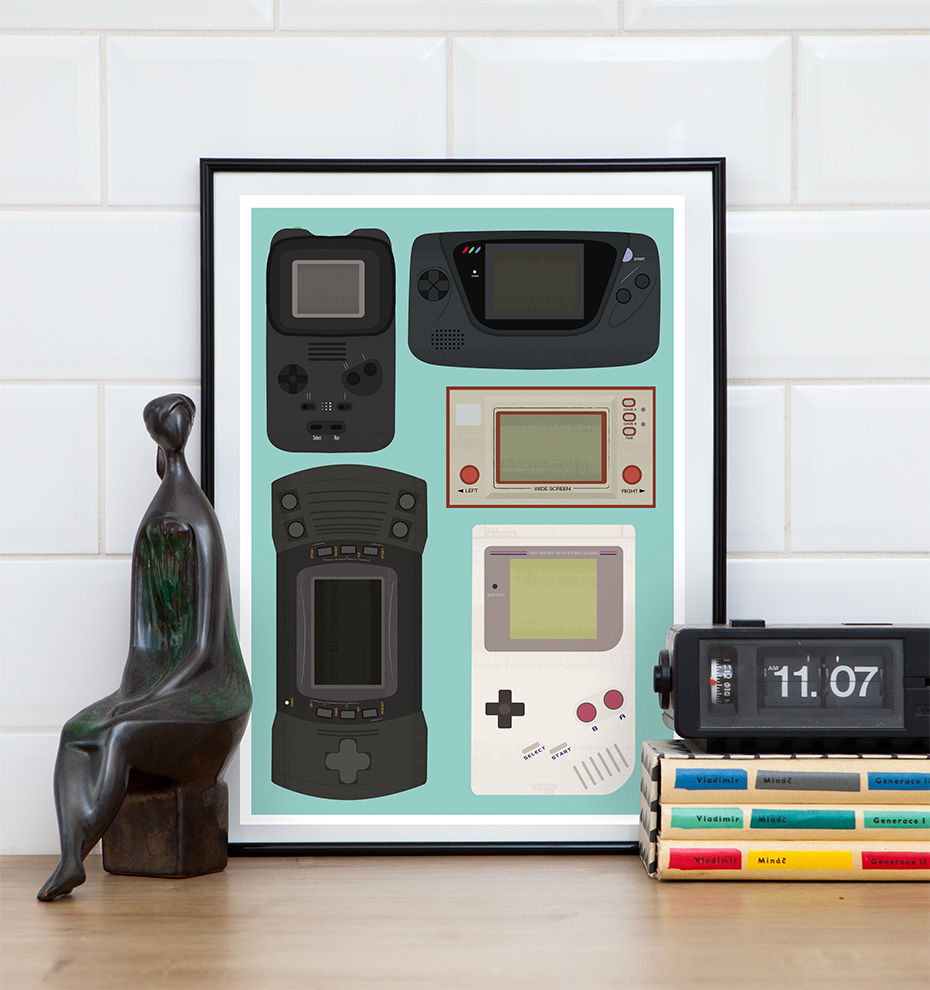 Video Game poster, Gameboy print, Retro gaming Nintendo poster - product image