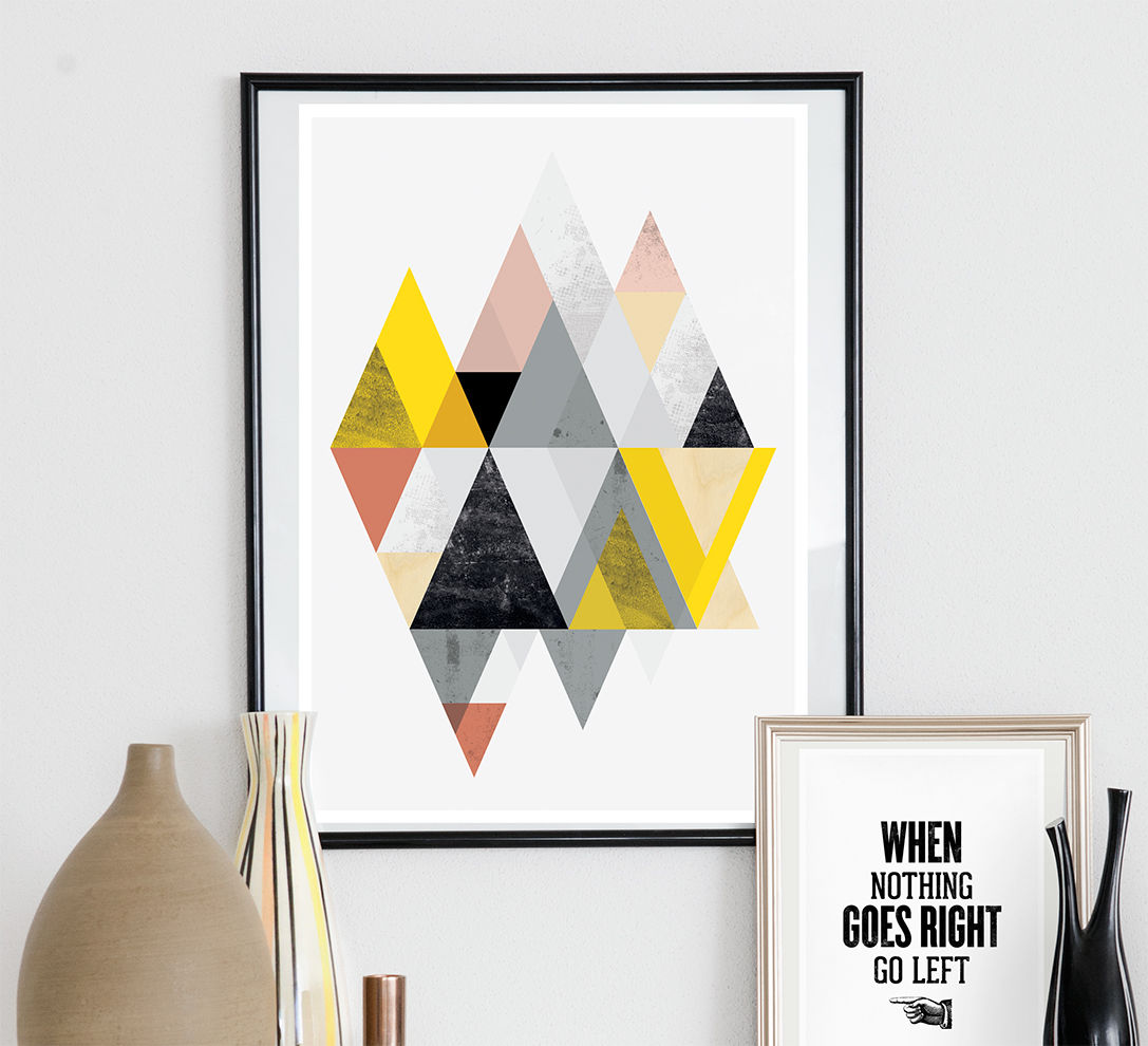 Geometric abtract print, minimalist poster, scandinavian design  - product images  of