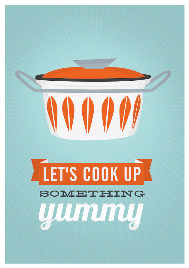 ... Cathrineholm kitchen poster, Cooking print, Mid century modern poster,  cooking quote art -