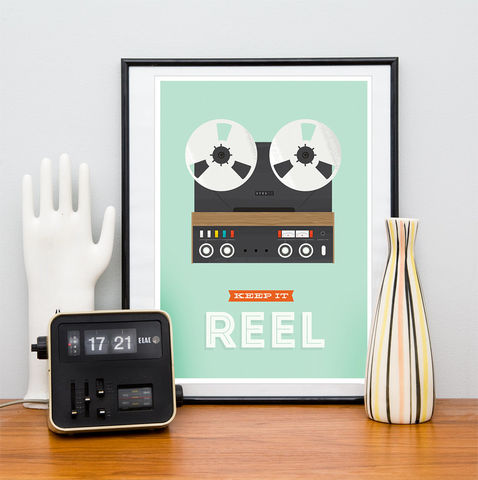 Keep,it,real,quote,print,,retro,poster,,inspirational,art,Quote print, retro reel to reel poster, keep it real, retro poster, mixtape poster, colorful home decor, inspirational quote, motivational quote print, retro wall art, mid century modern poster, boho chic art, turquoise art, positive wall print, scandinav