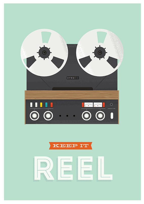 Keep it real quote print, retro poster, inspirational quote art - product images  of