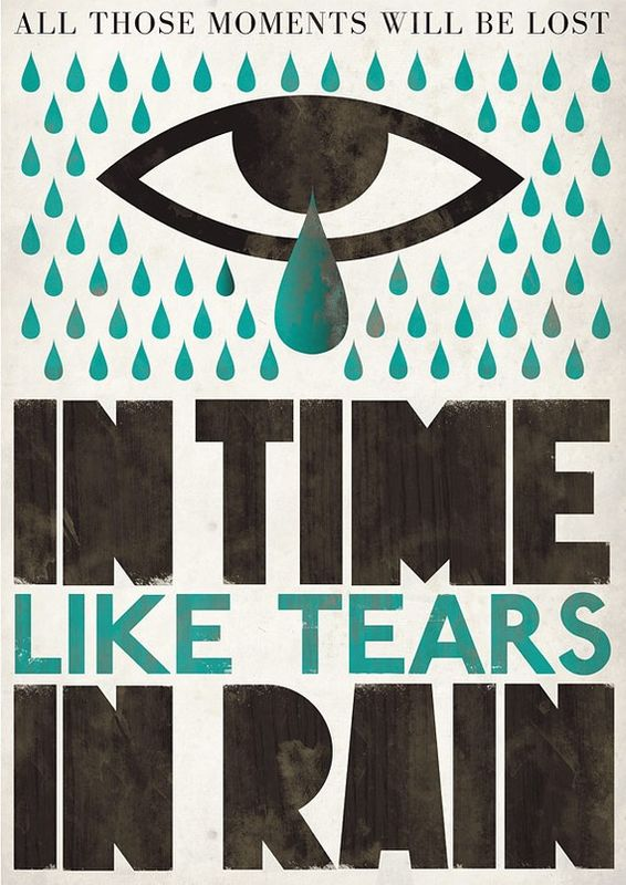 Blade Runner movie poster -  tears in rain - product images  of
