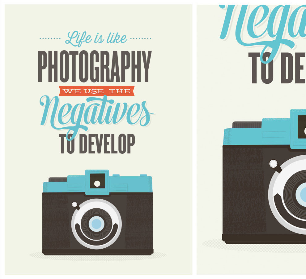 Retro camera inspirational quote print - product images  of