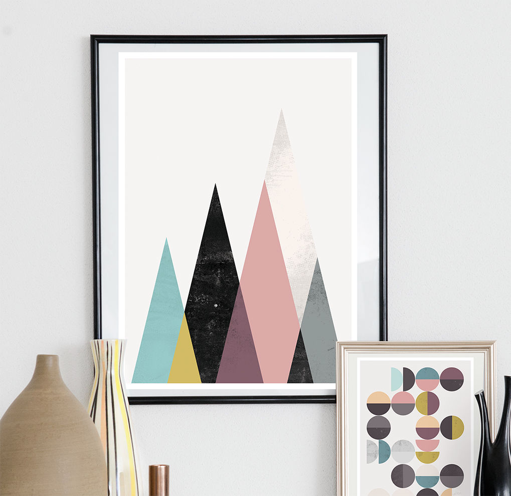 Geometric mountains print  - product image