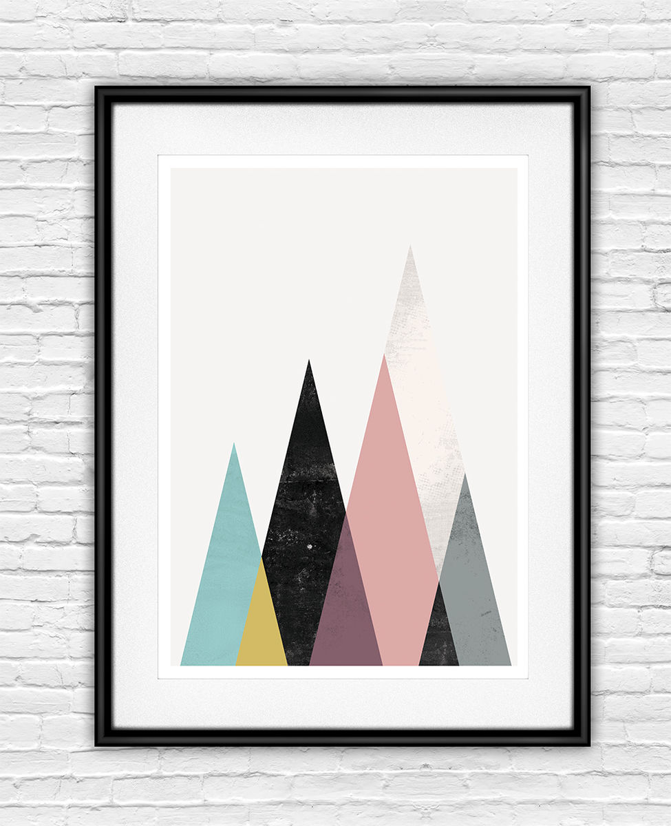 Geometric mountains print  - product images  of