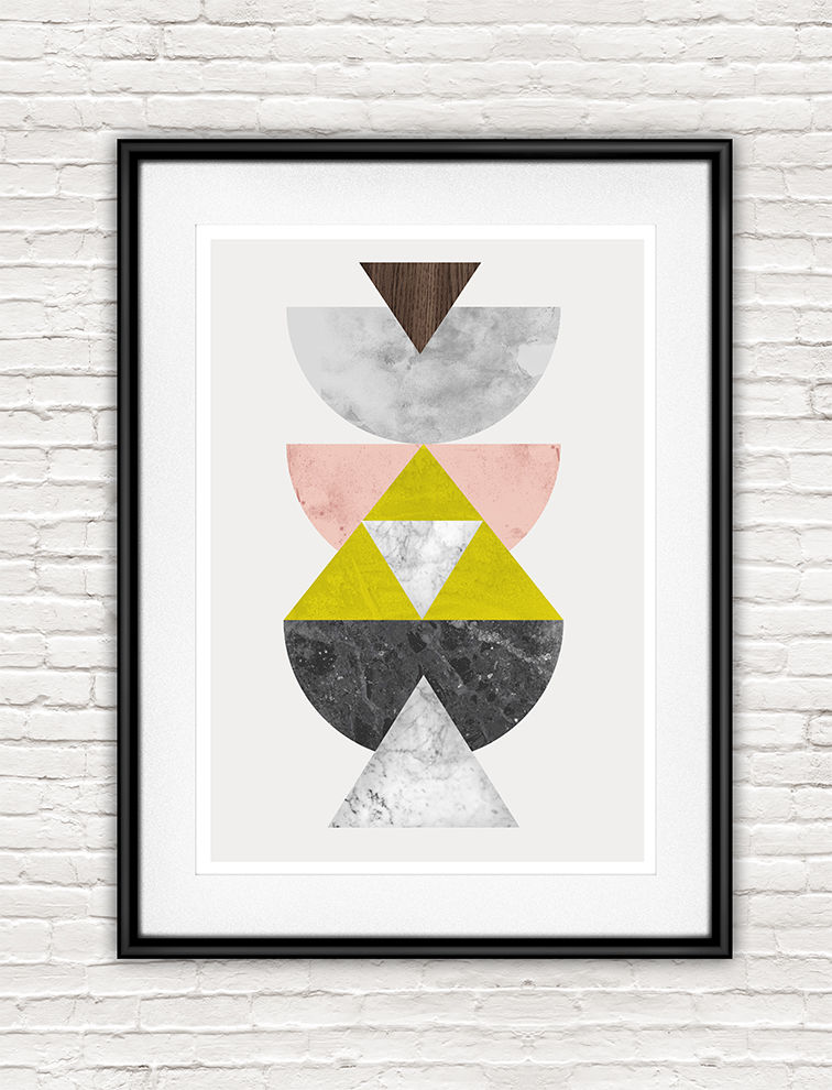 Marble geomtric abstract poster - product images  of
