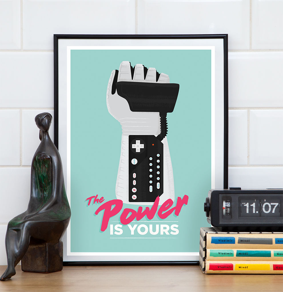 Nintendo Power Glove inspirational quote video game print - product image