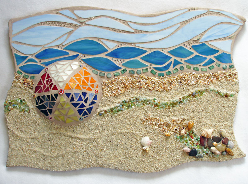 Mosaic Beach Scene 