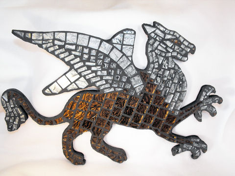 Griffin,Mosaic,Wall,Hanging,Griffin mosaic, wall hanging