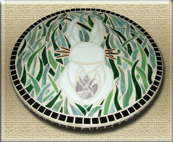 Bunny Mosaic lazy susan by Mel Fischer - product images