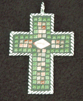 Aime's,Mosaic,Cross,Pendant,mosaic cross pendant, crucifix