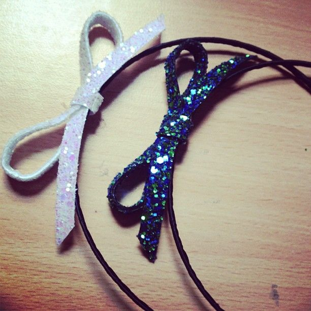 Mini Glitter Bow Headband, Various Colours - product images  of