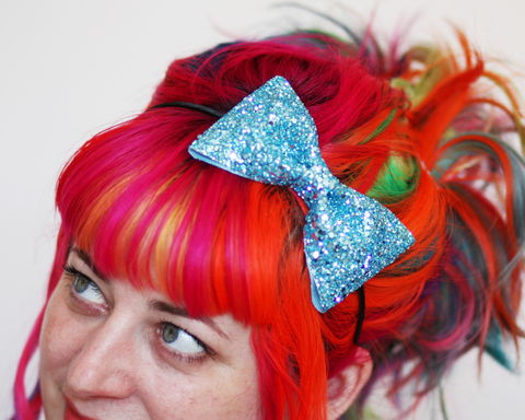 Glitter,Bow,Headband,,Various,Colours,Accessories,Hair,Headband,stars,gold,glitter,starry,golden,sparkly,fun,cute,janinebasil,uk,gold_headband,star_headband,elastic_headband,cotton_twill,elastic,felt