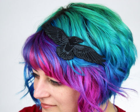 Raven,Headband,Accessories,headband,women,janine_basil,hair_band, raven