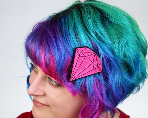 Pink,Gem,Stone,Hair,Clip,,Janine,Basil,for,Sugar,and,Vice,Accessories,Clip,women,janine_basil,gem, pink, sugarandvice