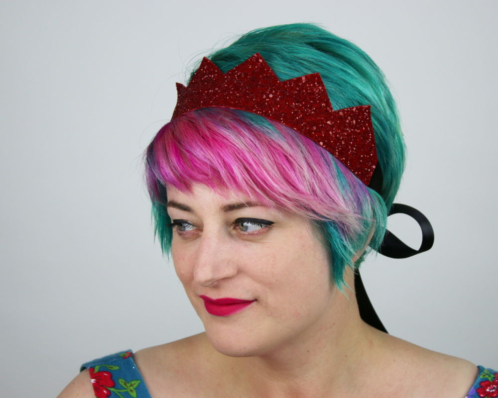 Glitter Kingly Crown Headband, Various Colours - product images  of