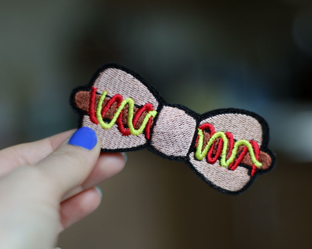 Hot Dog Fast Food Bow Hair Clip - product images  of