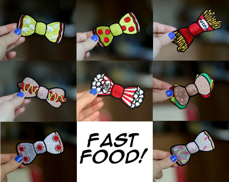 Pepperoni Pizza Fast Food Bow Hair Clip - product images  of