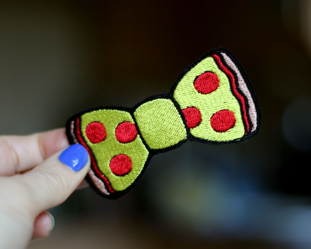 Mushroom Pizza Fast Food Bow Hair Clip - product images  of