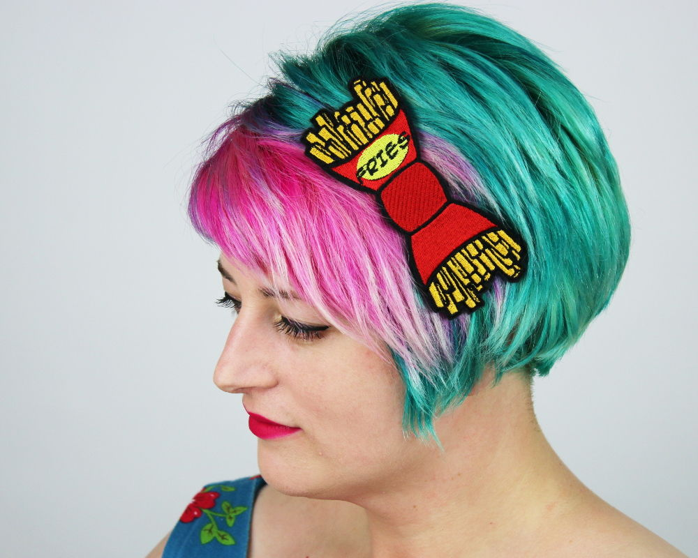 Fries Fast Food Bow Headband - product images  of