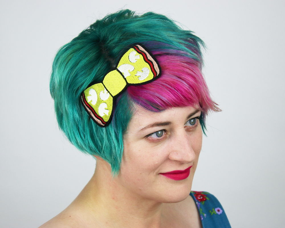 Mushroom Pizza Fast Food Bow Headband - product images  of
