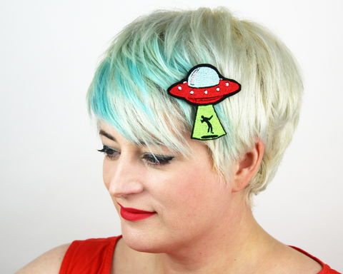 UFO,Abduction,Hair,Clip,Accessories,women,janine_basil, ufo
