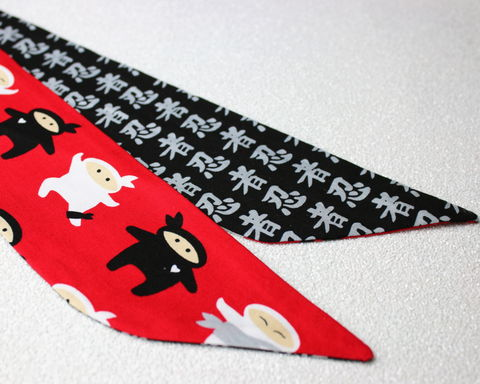 Red,Ninjas,Reversible,Wired,Headband,dolly bow headband, wired, tie hair band