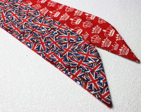Union,Flag,and,Crowns,Reversible,Wired,Headband,dolly bow headband, wired, tie hair band