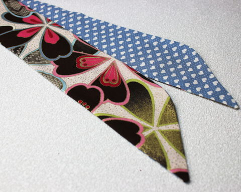 Japanese,Flowers,and,Hearts,Reversible,Wired,Headband,dolly bow headband, wired, tie hair band