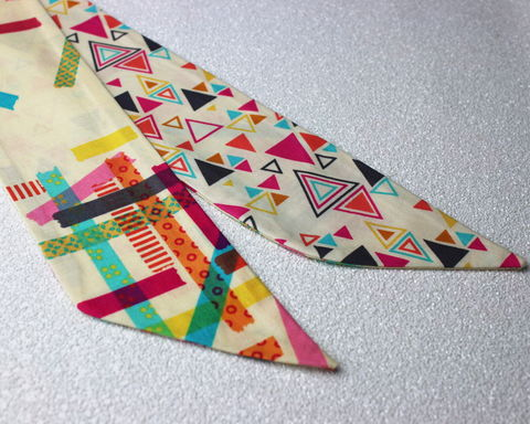 Triangles,with,Washi,Tape,Reversible,Wired,Headband,dolly bow headband, wired, tie hair band