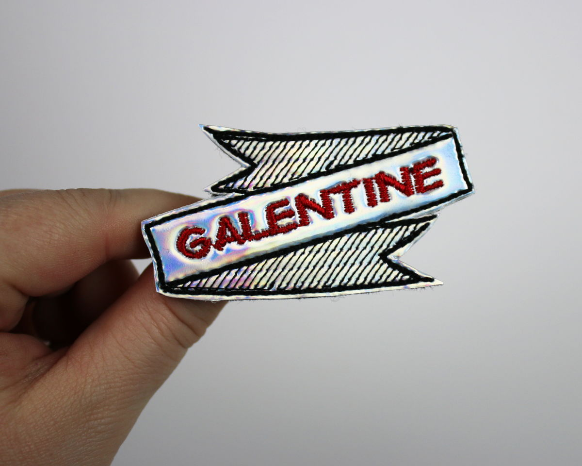 Galentine's Day Hair Clip or Brooch, Holographic or Rainbow - product images  of