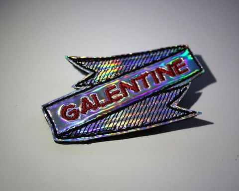 Galentine's,Day,Hair,Clip,or,Brooch,,Holographic,Rainbow,holo, hair clip, valentine, rainbow, pride, lgbt