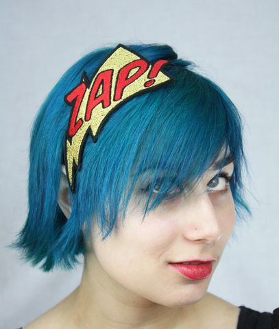 ZAP,Comic,Book,Headband,headband, comic accessories, funky headband