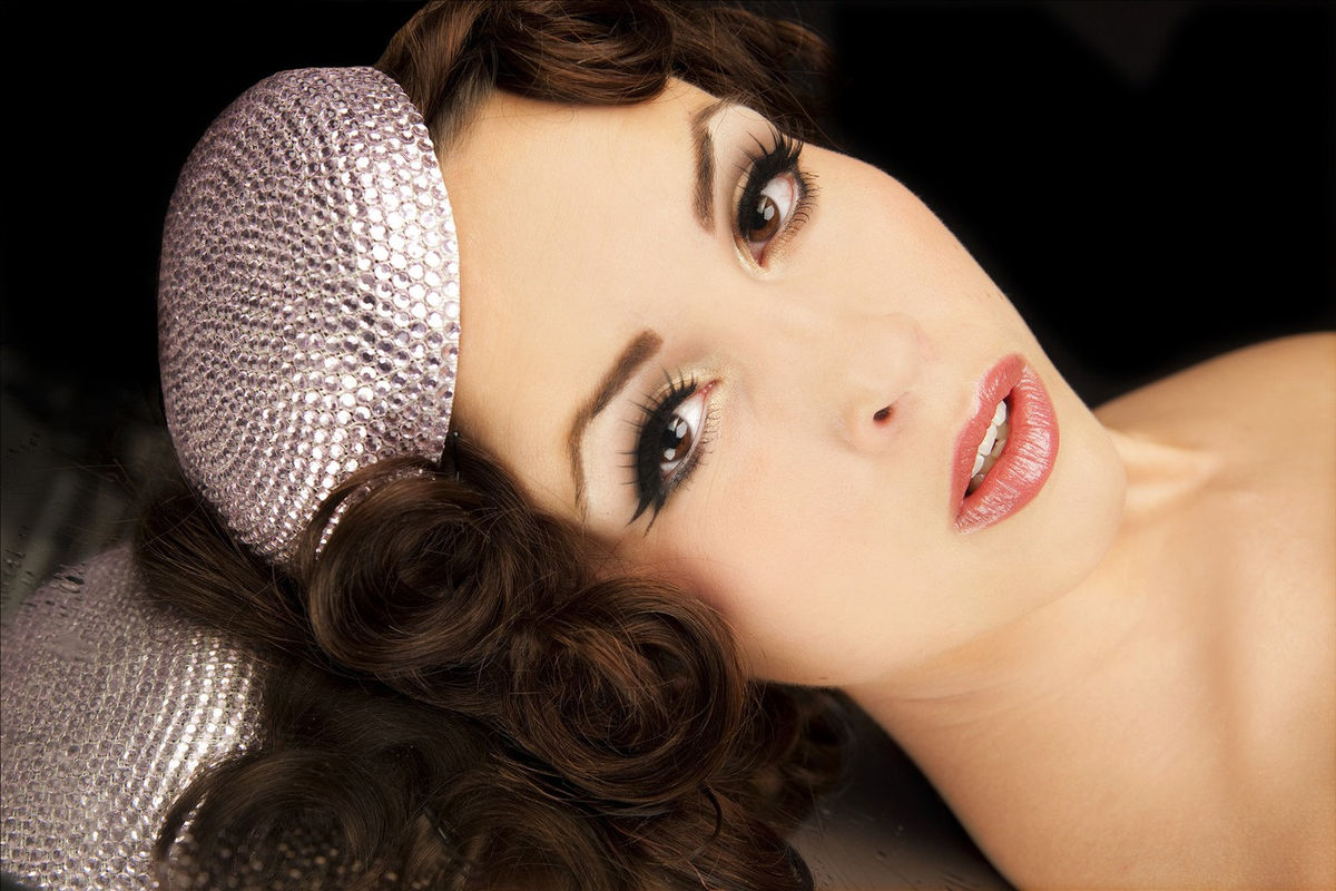 Rhinestone Pillbox Hat, Various Colours - product image