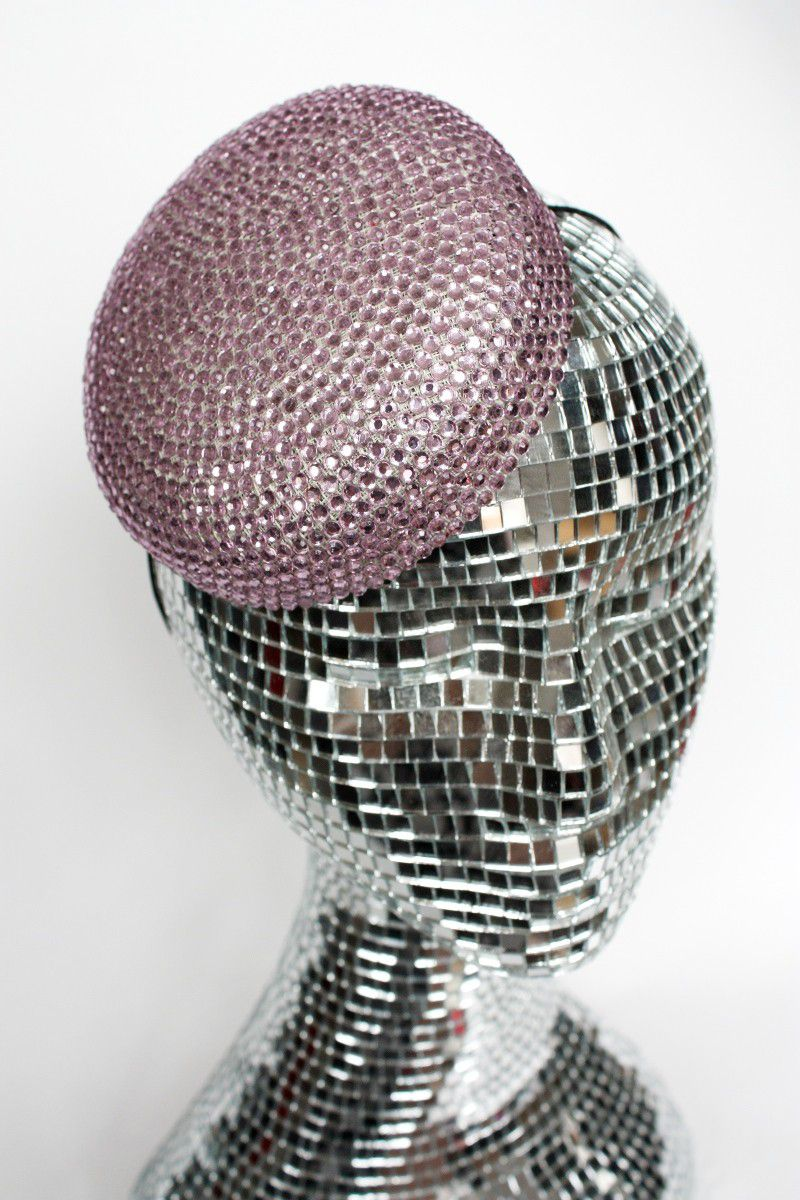 Rhinestone Pillbox Hat, Various Colours - product images  of