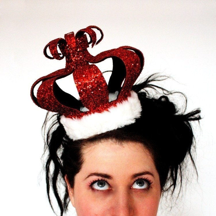 Burlesque Queen of Hearts crown, Pick your colour - product image