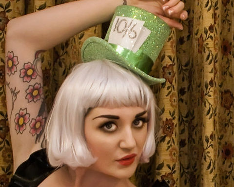 Mad,Hatter,Top,Hat,,Pastel,Green,Alice,in,Wonderland,Hat,Accessories,Women,top_hat,burlesque_hat,theatrical_hat,vintage_style,women,janinebasil,burlesque_top_hat,mini_top_hat,mad_hatter_top_hat,alice_in_wonderland,green_top_hat,pastel_green,glitter,pink_glitter,buckram,elastic,wire