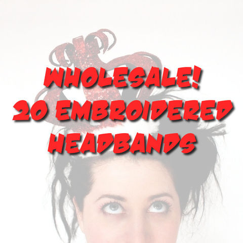 WHOLESALE,-,20,Embroidered,Headbands,Accessories,Hair,Headband,wholesale,wholesale_headbands