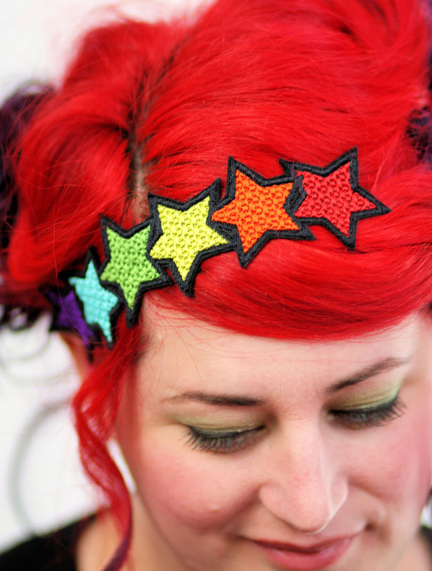 Rainbow Star Headband - product images  of