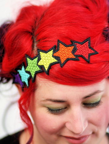 Rainbow,Star,Headband,LGBT, Pride, Rainbow, headband, stars