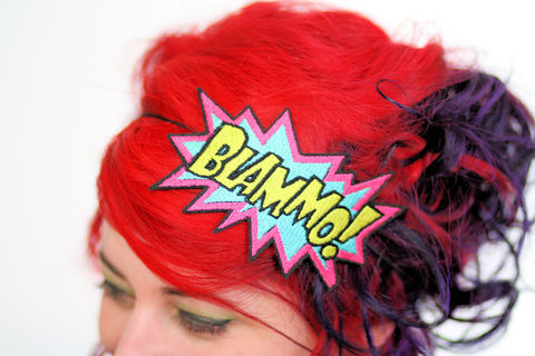 BLAMMO,Comic,Book,Headband,headband, comic accessories, funky headband