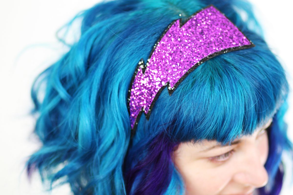 Lightning Bolt Glitter Headband, Various Colours - product images  of