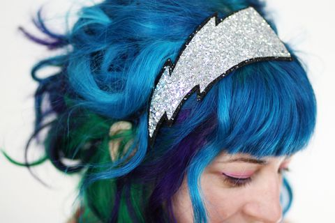 Lightning,Bolt,Glitter,Headband,,Various,Colours,Accessories,Hair,Headband,glitter,starry,sparkly,fun,cute,janinebasil,ttt,uk,silver,lighting_zap,bolt,cotton_twill,elastic,felt